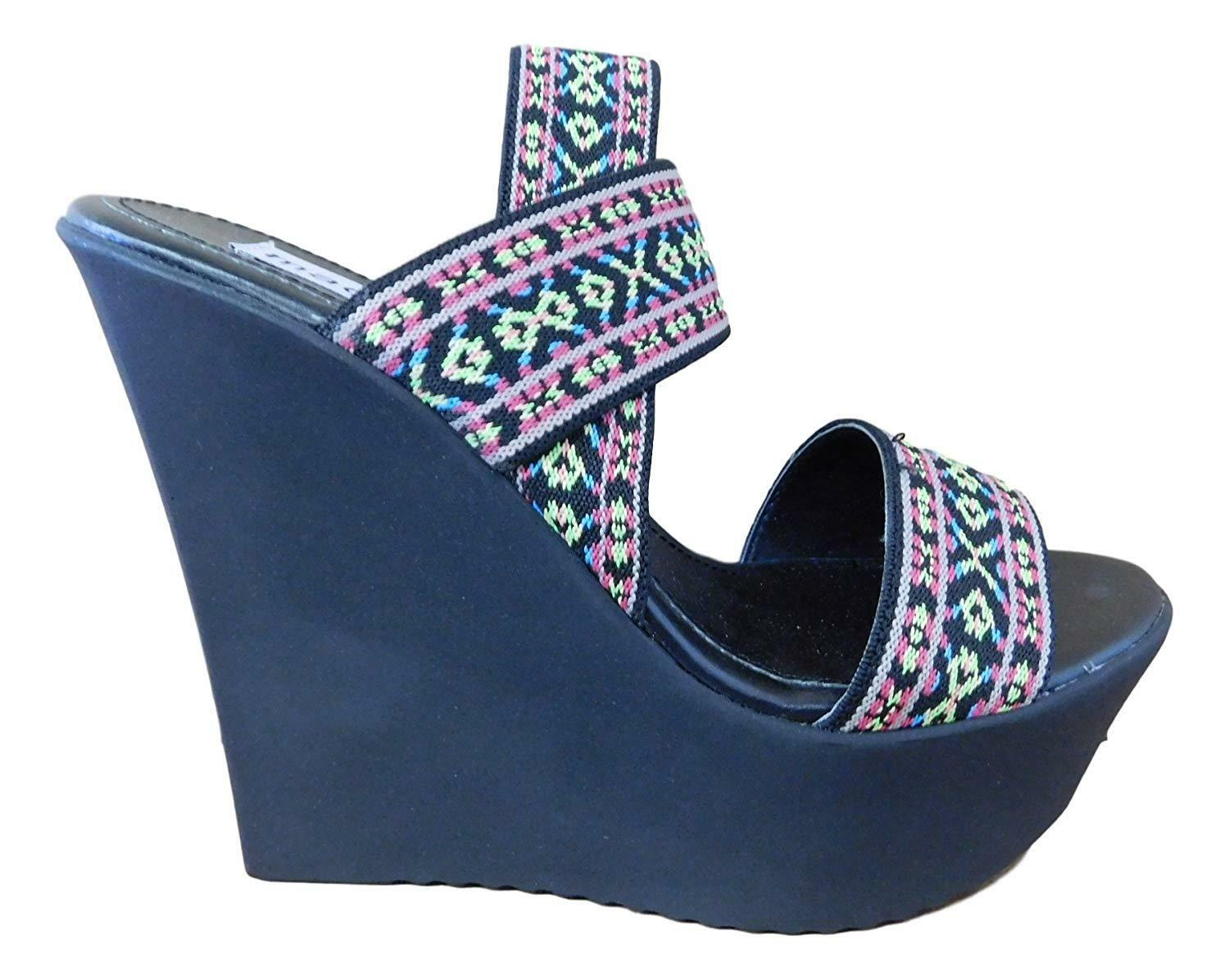 Madden Girl Women's Wedge Sabel Strappy Canvas Open Toe Wedge Women's Sandals, 7 c08c0f