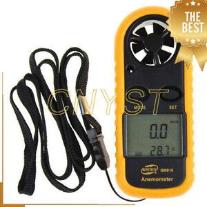 GM816 Portable Anemometer Air Flow Meter Digital Handheld Wind Speed Gauge