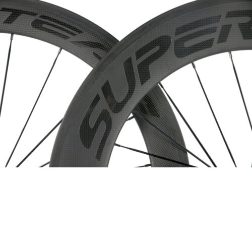 Superteam Front 60mm Rear 88mm Carbon Wheelset Road Bicycle 700C Carbon Wheels