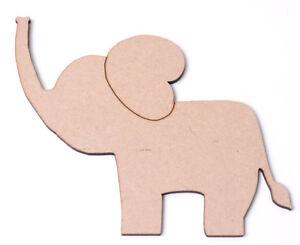 Wooden-MDF-Elephant-Craft-Shapes-Blanks-Nursery-Decoration-New-Baby-Elephants