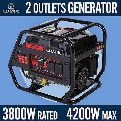 3.8kVA Rated / 4.2kVA Max Generator Portable Camping Caravans 4 Stroke - Petrol