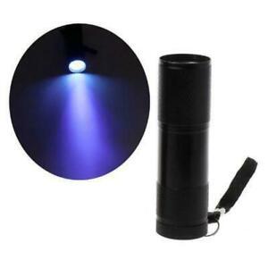 9W UV Resin Curing Lamp Light 9 LED 395nm UV Blacklight Flashlight Jewelry Tools