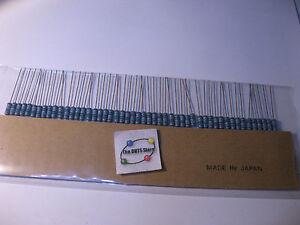 KOA-Speer-1-Ohm-1R-1-1-2W-Metal-Film-Resistors-NOS-Package-Qty-50