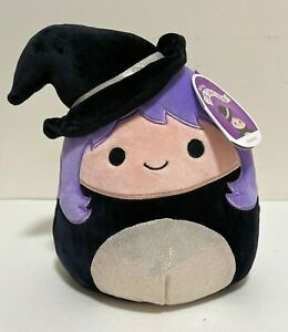 """Squishmallows Official 2021 Halloween 8"""" Madeleine the Witch Plush Doll Toy"""