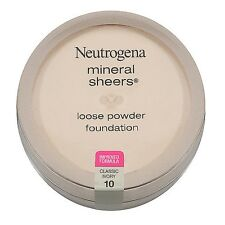 Neutrogena Mineral Sheers Loose Powder Foundation SPF 20 Classic Ivory 10 0.19 Oz