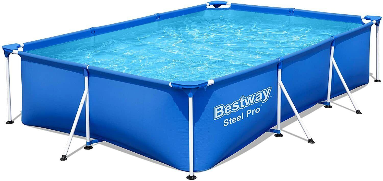 Bestway Swimming Pool Steel Pro Large 9.1ft Rectangular Frame - 300 x 201 x 66cm