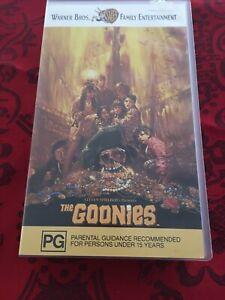 The Goonies Steven Spielberg Vhs Video Tape Ebay