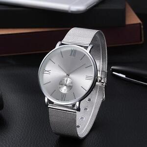 Mode-Frauen-Kristall-Edelstahl-analoge-Quarz-Armbanduhr-Damen-Wrist-Watch