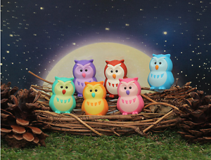 Details about New Release! IWAKO 6 Cute OWLS Take-Apart Puzzle Eraser Set