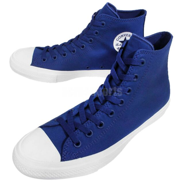 Converse Chuck Taylor All Star II 2 Lunarlon Blue White Men Shoe Sneaker  150146C b591ca15a1dd