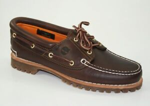 6c53bdad14fd2 Image is loading Timberland-Heritage-Noreen-3-eye-Moccasins-Boat-Shoes-