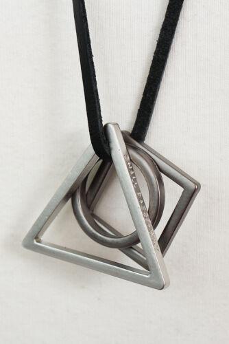 plus souple Men/'s fashion acier Cercle Triangle Carré Pendentif Bracelet Collier 48