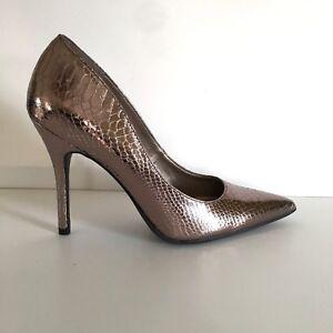Details about Sam Libby Bronze Metallic Heels Size 10 Pumps 4-1 2 inch  Women s Dress Shoes 95cd10681