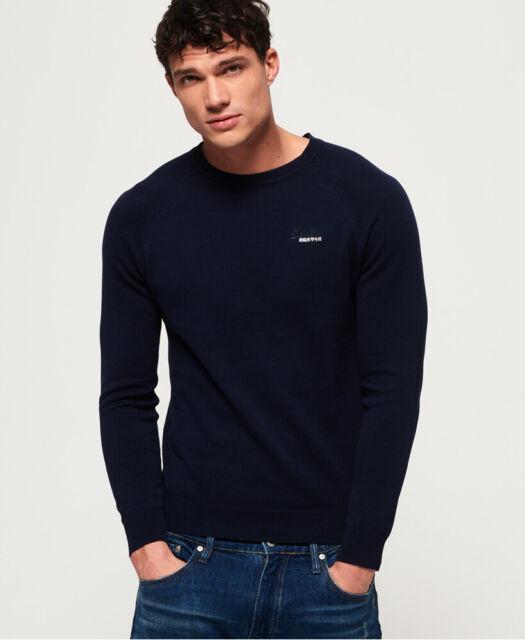 Blue Superdry Men/'s Orange Label Cotton Crew Knit