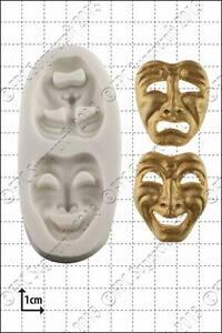 Molde de silicona GRACIOSOS Y Tragedia Mascaras Comida Uso FPC