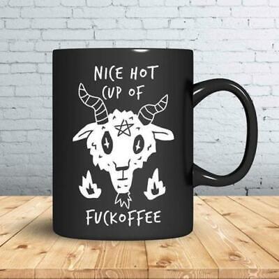 DEADPOOL UNICORN NICE HOT CUP OF FUCKOFFEE MUG BLACK CERAMIC COFFEE MUG