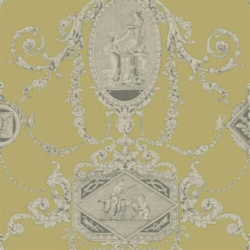 Regency Toile Chartreuse Blendworth Wallpaper PV00202