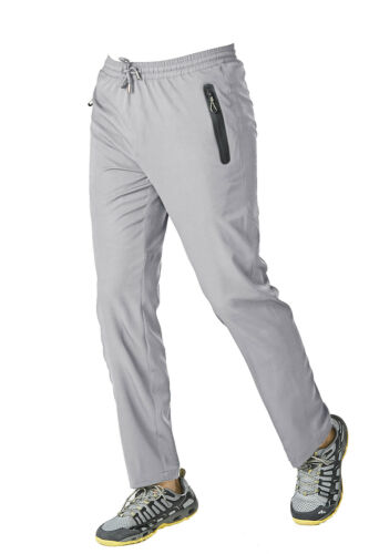 Men/'s Quick Dry Summer Pants W// 2 Zipper Pockets Trekking Outdoor Pants Trousers