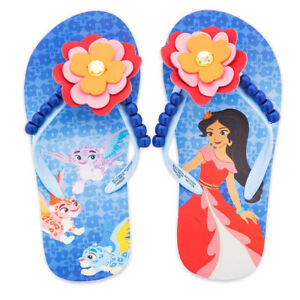 3e7bf401c Disney Store Elena of Avalor Flip Flops Girls Sandals 7 8 9 10 11 12 ...