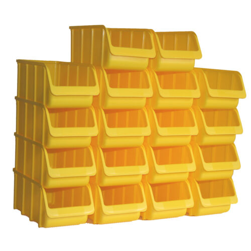 18x Profi Sichtbox PP Größe 3//L Gelb 315x145x125 mm Stapelbox Sichtlagerbox Box