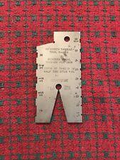 Vintage Brown And Sharpe 599 716 Screw Thread 29 Degree Gauge Machinist Tool