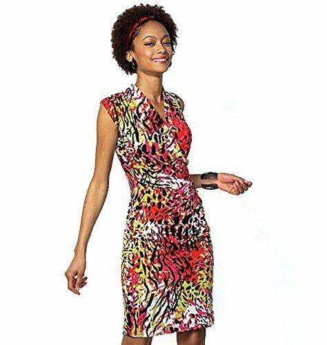McCalls Sewing Pattern M7186 Misses/' Flattering Stretch Wrap Dress Size 6-22 NEW