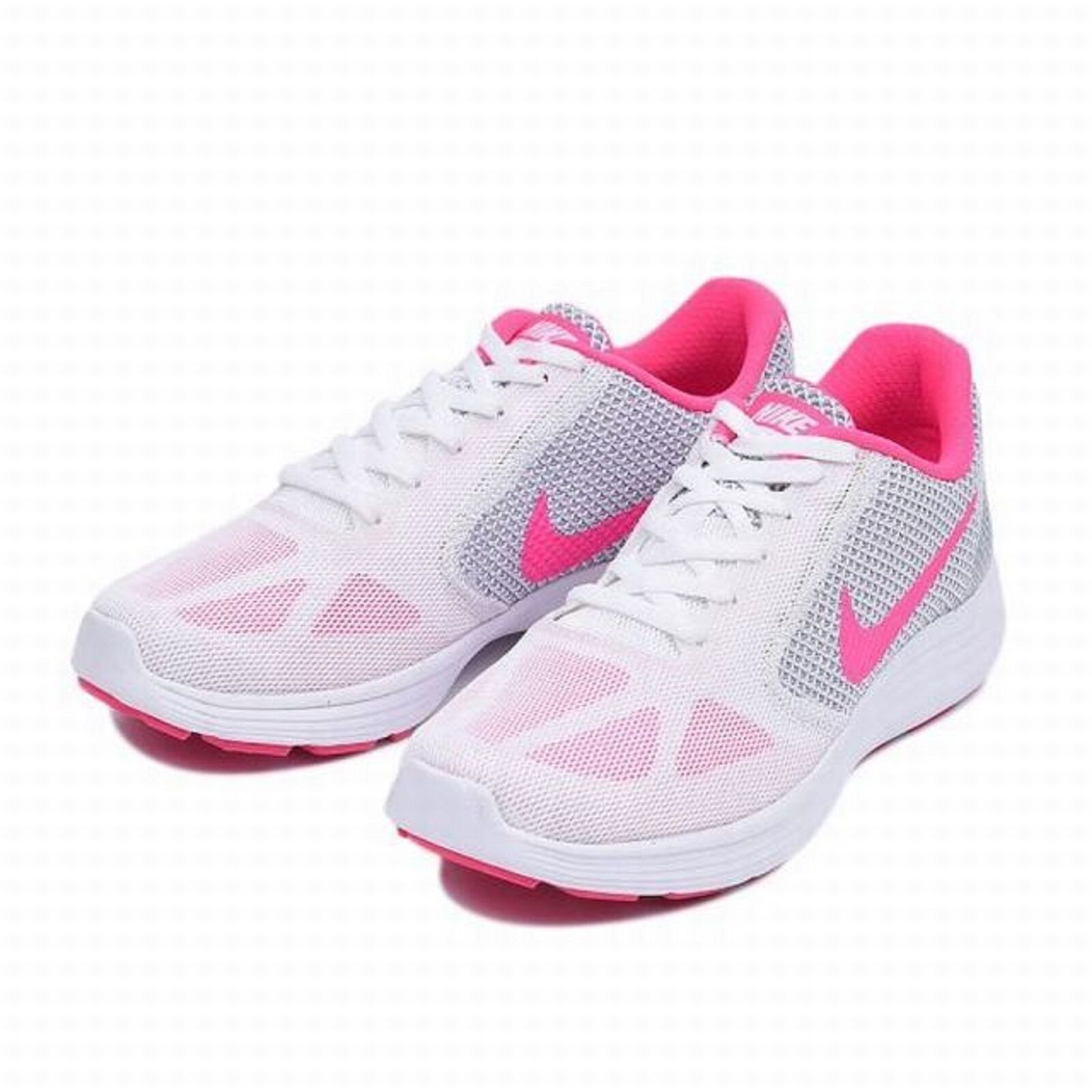 NIKE Ladies 'REVOLUTION 3' Running shoes White Pink Grey  Sz. 9 M  NIB