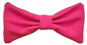 The-Dragons-Den-Neon-Pink-Fake-Elasticated-Bowtie-only