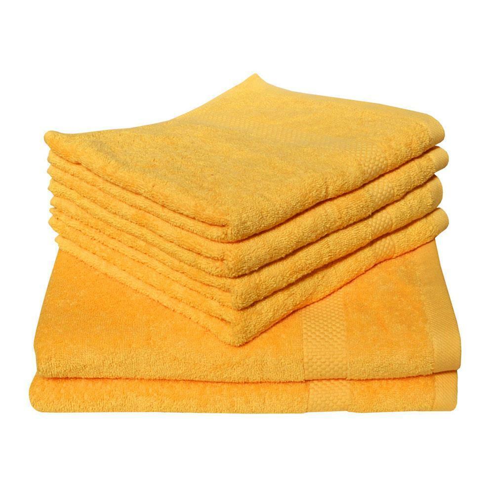 Dyckhoff High Quality 100% Organic Cotton Face Hand Bath Towel Bale Yellow