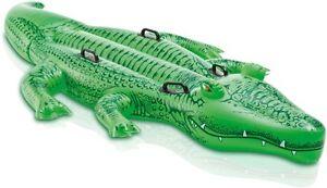 INTEX AUFBLASBARER Riesen Reittier Alligator 203 x 114 cm Schwimmen Wasser