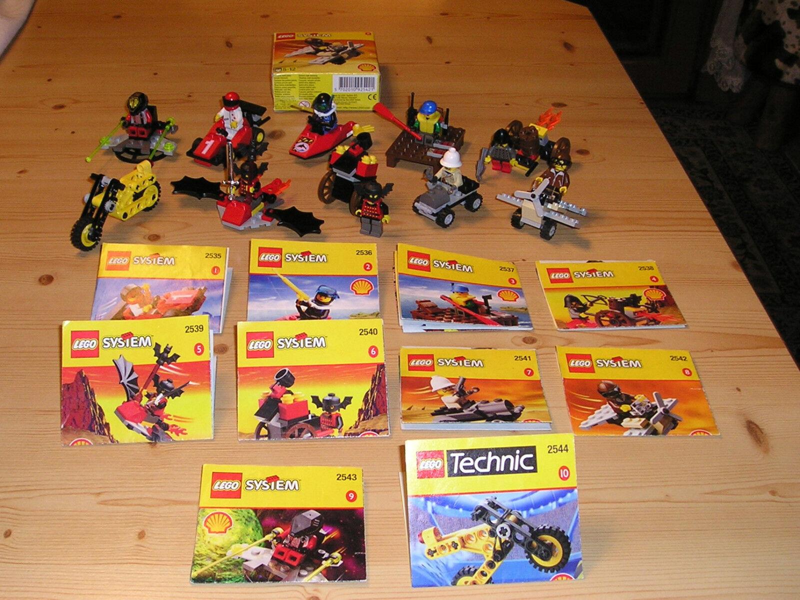 Lego Shell 2535, 2536,2537, 2538, 2539, 2540, 2541,2542, 2543, 2544 Werbe Set
