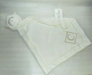 Pottery-Barn-Kids-White-Lamb-Letter-C-On-Front-Lovey-Baby-Sheep-Security-Blanket