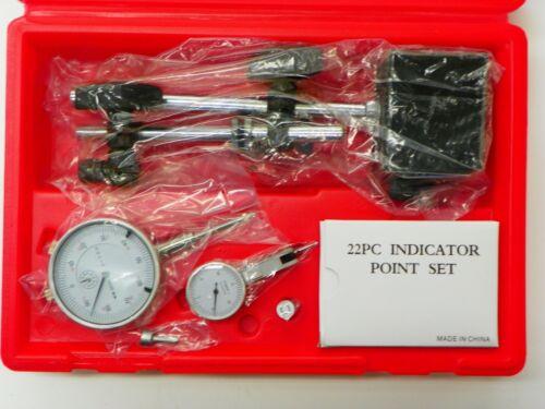 MAG BASE DIAL INDICATOR 4 PC INSPECTION SET POINT SET /& TEST INDICATOR  TB026