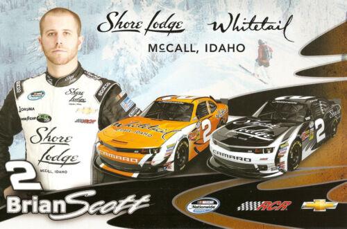 "2014 BRIAN SCOTT /""SHORE LODGE #2/"" NASCAR NATIONWIDE SERIES POSTCARD"