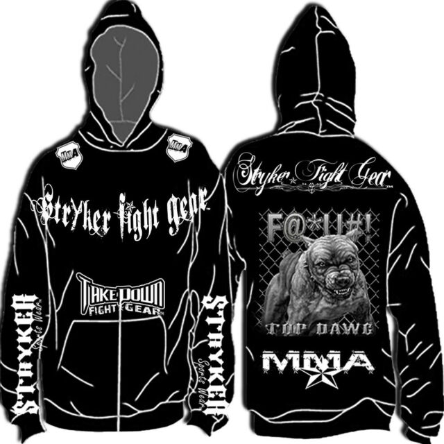 Stryker New Mma Hoodie Sweat Shirt Jumper Top UFC Boxing w FREE Tapout Sticker t