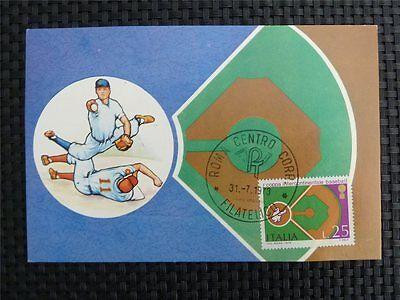 Herzhaft Italien Mk 1973 Italy Sports Baseball Maximumkarte Carte Maximum Card Mc C1552