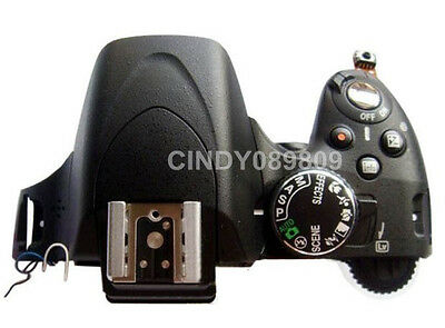 Original Top Head Flash Cover Assembly With Button For Nikon D5100 DSLR Camera