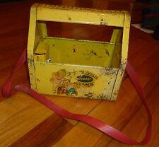 Vintage 1950s Yellow Metal Kiddie (KIDD-E SHU-SHINE) Shoe Shine Bank by AMSCO