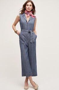 Nwt 99 Størrelse Jeans Large Chambray Level Jumpsuit vH8qvAw