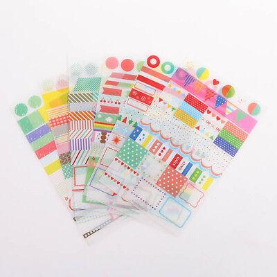 6x Simple Life Calendar Paper Sticker For Scrapbook Calendar Diary Planner Decor