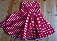 Dolly and Dotty Retro 50s Dress Swing Red White Polka Dot spotty UK 22 Vgc Rock