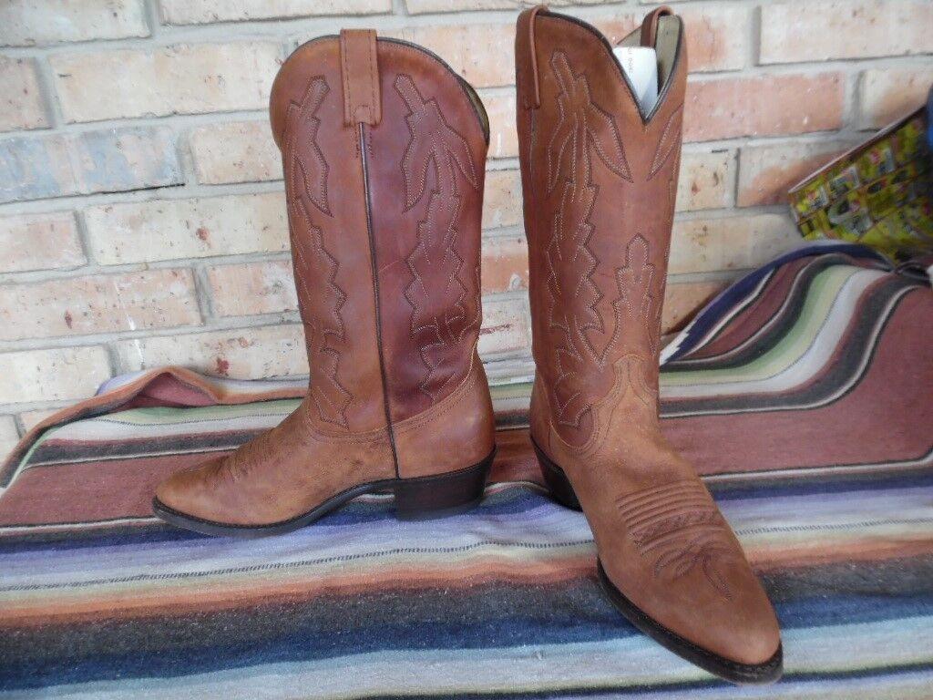 Men's Dan Post Marlbgold Bay Apache Western Cowboy Boots 8 EW (h425)