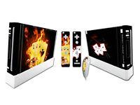 Nintendo Wii Skin Design Foils Aufkleber Schutzfolie Set - Burning Cards Motiv