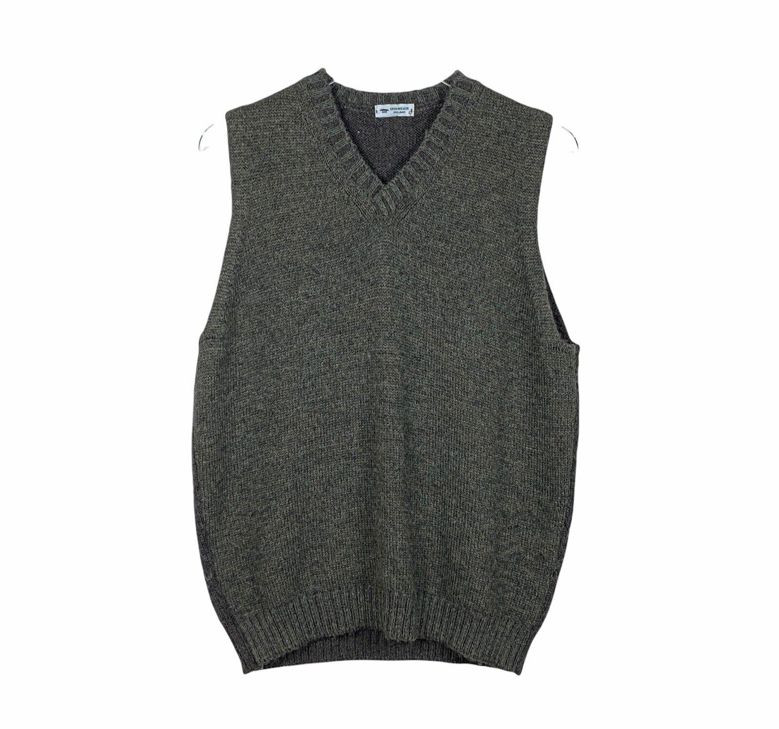 Inis Meain Ireland Mens Baby Alpaca Sweater Vest … - image 1