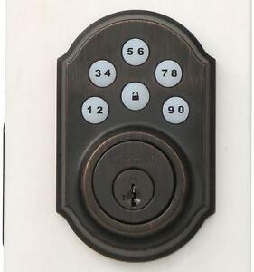 Image Is Loading Electronic Touchpad Door Lock Motorized Deadbolt Keyless Entry