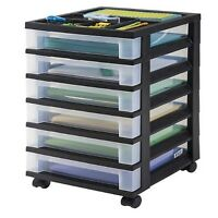 6-drawer Storage Cart Organizer Top, Lego Storage Case Box Black