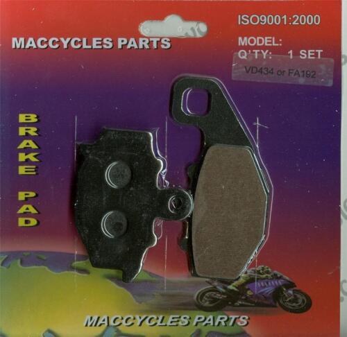 1 set Kawasaki Disc Brake Pads ZX400 1993-2001 /& 2004-2006 Rear