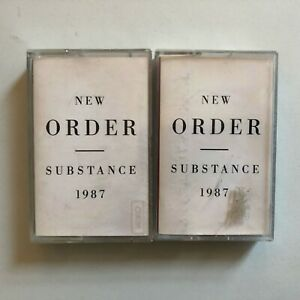 NEW ORDER - Substance 1987 (TWO TAPES) -VINTAGE Cassette 1987 TESTED/ RARE