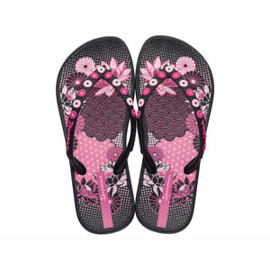 9c292621a1d0 Image is loading Ipanema-Kids-Anatomica-Lovely-Flip-Flops-Black