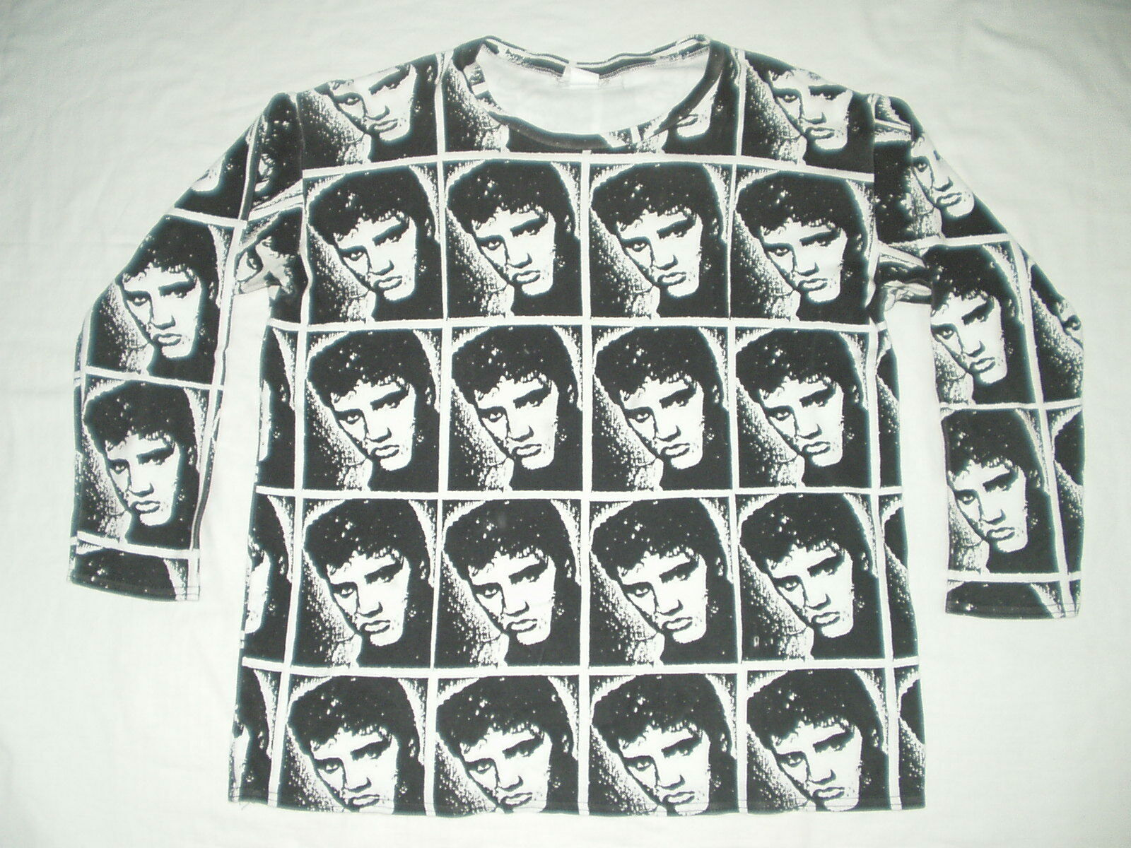 Vintage Elvis Presley All over print T shirt Rare  90S  Seditionaries Rockabilly
